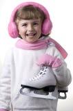 flickaskridskoåkning Royaltyfri Foto