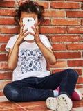 Flickaskytte Fotografering för Bildbyråer