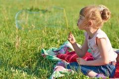 Flickaslagbubblor Fotografering för Bildbyråer