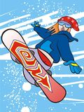 flickasnowboard stock illustrationer