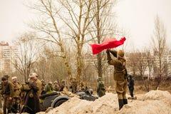Flickasoldat av den röda armén Gomel Vitryssland Arkivbild