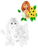flickasolros Royaltyfria Bilder