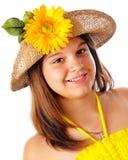 flickasolsken Arkivfoto