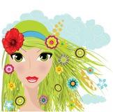 flickasommar Royaltyfria Bilder