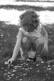 flickasommar Arkivfoto