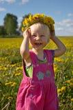 flickasommar Fotografering för Bildbyråer