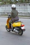 flickasparkcykel Arkivbilder