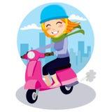 flickasparkcykel stock illustrationer