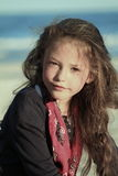 Flickastående Arkivfoto
