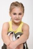flickastående Arkivbild