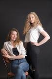flickastående två royaltyfri fotografi