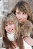 flickaståendebarn Arkivfoton