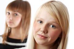 flickastående två Arkivfoton