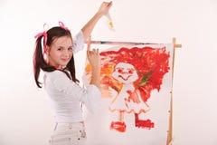 Flickateckningsavbrott Arkivfoto