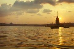 Flickatorn, Bosphorus Istanbul Arkivbild