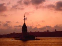 Flickatorn, Bosphorus Istanbul Fotografering för Bildbyråer