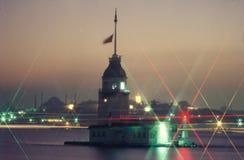 Flickatorn, Bosphorus Istanbul Arkivfoto