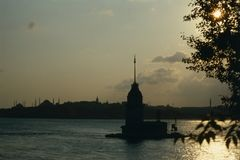 Flickatorn, Bosphorus Istanbul Royaltyfria Foton