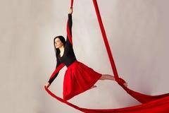 Flickautbildning på flyg- silke Fotografering för Bildbyråer