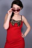flickautvikningsbrudsolglasögon Arkivfoto