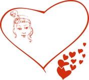 flickavalentin Royaltyfri Bild