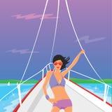 flickavektoryacht royaltyfri illustrationer
