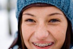 flickavinter Fotografering för Bildbyråer