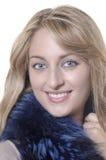 flickawhit för blåa ögon royaltyfria bilder