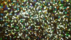 Glittering brilliance in blur stock footage