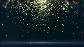 Flickering confetti falls down (loop) stock video footage