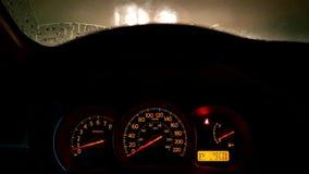 Flickering of fog lamp light for reminding stock video