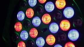 Flickering to the music of club light. stock footage