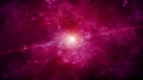 Flickering Violet Supernova with Nebula on background stock video