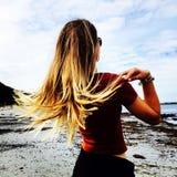 Flicking волос Стоковые Изображения RF