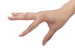 Flicking. Close up of female human hand flicking for composites Stock Photo