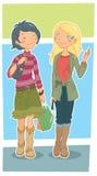 flickor Arkivbild
