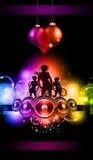 flickor för discotequehändelsereklamblad Arkivbild