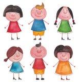 flickor för konstpojkegem Arkivbilder