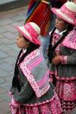 Flickor från Cusco Arkivfoto