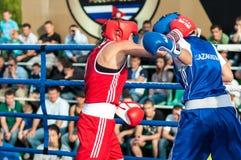 Flickor i boxningkonkurrens Arkivbild