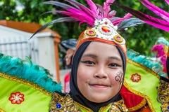 Flickor i traditionell kläder i Jakarta Indonesien Fotografering för Bildbyråer