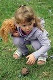 flickor little natur Royaltyfri Foto