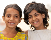 flickor little som ler Arkivbild