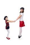 flickor little två royaltyfri foto