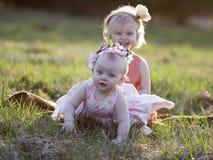 flickor little två Arkivfoto