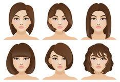 Flickor med kort hår Arkivbilder