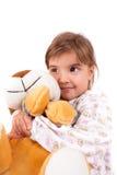 Flickor med toys arkivfoto