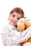 Flickor med toys royaltyfri bild