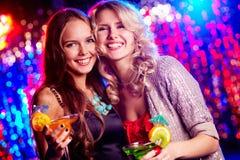 Flickor på partit Royaltyfria Foton