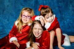 flickor santa arkivbilder